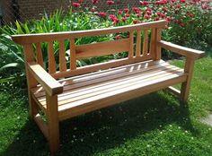 First Light Woodworking Japanese Garden Bench - Unique Garden Bench Designs Ideas