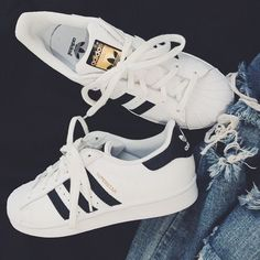 818e96c3aac58 Image about style in shoes 👠 by Haya on We Heart It. Adidas Superstar ...