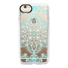 Aqua and White Lace Mandala on Wood – CASETiFY Iphone 6 Cases, Iphone 6 Plus Case, Cute Phone Cases, Iphone 5c, Phone Covers, Ipod, Coque Iphone, Iphone Accessories, Photo Instagram