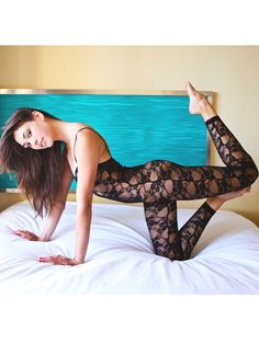 $50.00 Stretch Floral Lace Unitard | One-Pieces | Women's Dancewear | American Apparel    I probably would have questioned this outfit before, until I wore a lace leotard (long sleeves) for my own session. Now I think this might look really cool!