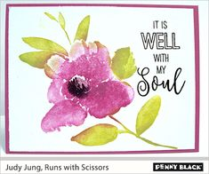Runs with Scissors Penny Black Cards, Penny Black Stamps, Easter Religious, Scissors, Blog, Inspire, Artists, Watercolor, Pen And Wash