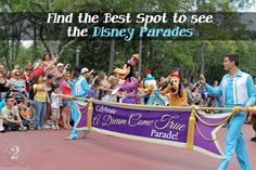 So where are some of the best viewing spots for the Walt Disney World Parades?  Find out here!