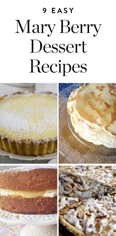 Get the recipes for these easy dessert recipes from Mary Berry. Ready, set, bake… Get the recipes for these easy dessert recipes from Mary Berry. Tart Recipes, Easy Cake Recipes, Easy Desserts, Baking Recipes, Bbc Recipes, Mason Jar Desserts, Recipies, British Baking Show Recipes, British Bake Off Recipes