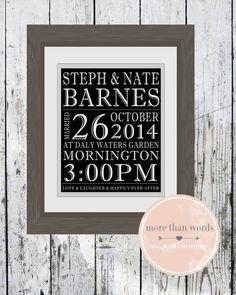 Printable Personalised Wedding Print Perfect by MoreThanWords17
