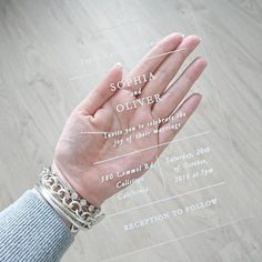 Acrylic Wedding Invitation Wedding Invitation Minimalist