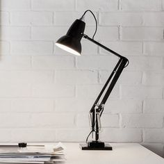 Anglepoise Original 1227 Desk Lamp, in stock. Authorised Anglepoise suppliers for the whole Anglepoise Lighting range including other Anglepoise Original 1227 desk lamps, desk lights and table lamps. Task Lighting, Modern Lighting, Lighting Design, Interior Design Shows, Interior Design Inspiration, Interior Rendering, A Table, Table Lamp, Anglepoise Lamp