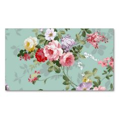 Vintage Elegant Pink Red Roses Pattern Business Card Templates. This great business card design is available for customization. All text style, colors, sizes can be modified to fit your needs. Just click the image to learn more!