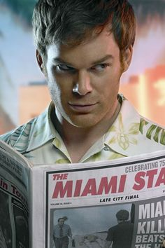 Dexter Morgan is a Miami blood spatter detective who just happens to be a serial killer.