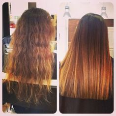 Before and After ladies #brazilianblowout by #amanda at #jolsalon - book your brazilian blowout appt today T 6195014469 or online www.jolsalon.com