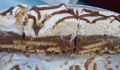 Πεντανόστιμο δίχρωμο μπισκοτογλυκό τούρτα με ζαχαρούχο και merenda