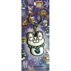 Pokemon Center 2014 Christmas Daruma Froakie Snowman Rubber Keychain
