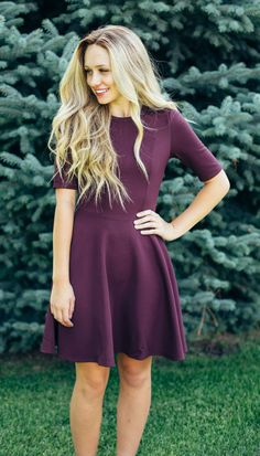 These fit and flare dresses are an autumn essential. The heavy fabric will hold its shape and will flatter any type of body.