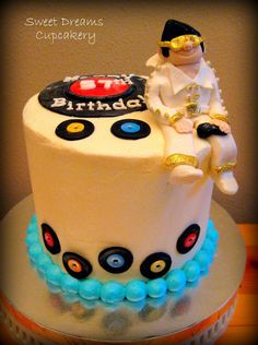 Elvis Birthday Cake with margarita n shot glasses n maybe ornament as topper.  29+ 1