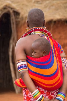 "Africa | ""Masai colours"".  Kenya | ©Manuela Trevia"