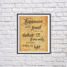 Harry Potter Print Happiness can be found Harry by UkrPrintDesign