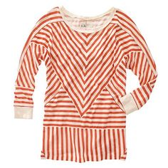 Zigzaggy stripe pattern = easier to hide stains (and it's adorable).