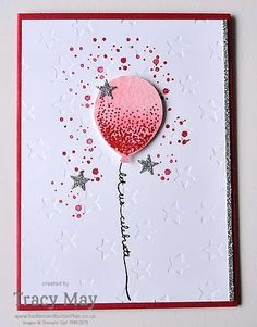 Balloon Celebration by Stampin' Up! - Celebration card for Global Design Project Celebration Challenge #GDP015. Sneak peek from Spring/Summer 2016 Catalogue