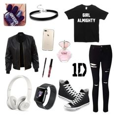 """One Direction concert outfit!"" by ninjiaamasterr on Polyvore featuring Miss Selfridge, Converse, Beats by Dr. Dre and LE3NO"