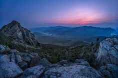 A Hazy blue sunset over the White Mountains New Hampshire [OC][3000x2000] #arya #love #instagood #photooftheday #beautiful