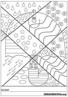 46 Ideas autumn art for kids coloring pagesBest 12 Girl Holding an Umbrella Spring Coloring Page – SkillOfKing.Arts And Crafts Wallpaper Key: art project- could do the patterns with markers, colored pencils or crayons! Spring Coloring Pages, Coloring For Kids, Colouring Pages, Adult Coloring Pages, Coloring Books, Autumn Crafts, Autumn Art, Art For Kids, Crafts For Kids