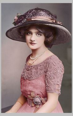 chasingrainbowsforever: Miss Lily Elsie ~ Colorization of Black and White
