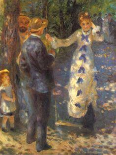 Tableaux sur toile, reproduction de Renoir, The Swing, 92x73cm