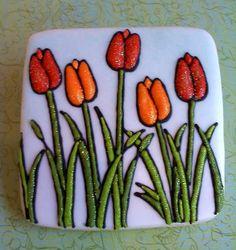 Tulips cookie