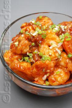 Les gourmandises d'Isa: CREVETTES GÉNÉRAL TAO