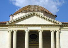 Ionic Order: the pediment of the Rocca Pisana by Scamozzi, 1574