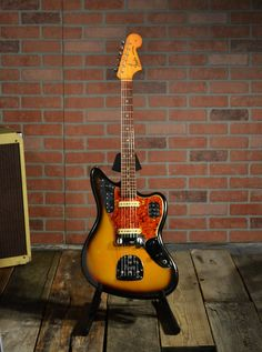 1965 Fender Jaguar with the original Owners Manual, original case and tremolo arm - in Sunburst finish. Prs Guitar, Guitar Tabs, Fender Guitars, Guitar Chords, Cool Guitar, Acoustic Guitar, Guitar Rig, Fender Telecaster, Guitar Images