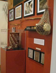 """""""Eastern Woodland Fiber Arts"""" permanent exhibit, guest curated by Vera Longtoe Sheehan.   Discover hidden secrets of New England's Native people as you explore traditional fiber arts that were once used to create their clothing and containers.  Features  baskets made by Jessee Lawyer, Julia Marden, Vera Longtoe Sheehan and photos by Lina Longtoe document the twined bag process."""