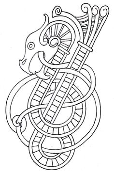 Viking Dragon Outline 2 by ~vikingtattoo on deviantART