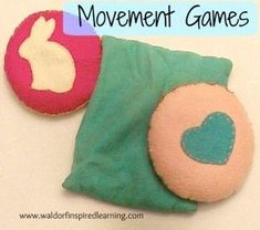 Movement Games with bean bags and clapping, verses included. Plus instructions for how you and your children can make your own bean bags. Great for Waldorf homeschooling.