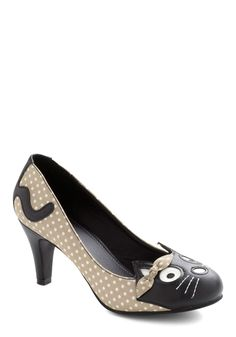 $57.99  Meow's the Time Heel in Beige | Mod Retro Vintage Heels | ModCloth.com
