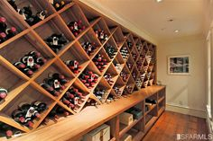 San Francisco wine cellar.