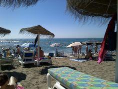 Playa de la Carihuela en Torremolinos, Andalucía