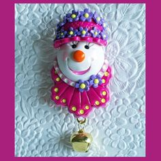 Snowman Magnet Raspberry and Pink by RFColorfulCreations on Etsy, $5.50