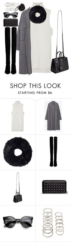 """""""Untitled#4193"""" by fashionnfacts ❤ liked on Polyvore featuring ADAM, Zara, Tory Burch, Stuart Weitzman, Yves Saint Laurent, Alexander McQueen and Forever 21"""