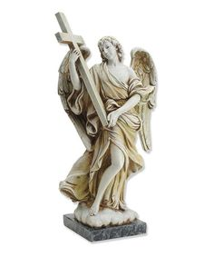 Look what I found on #zulily! Angel & Cross Figurine by Vatican Observatory Foundation #zulilyfinds