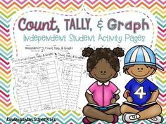 FREEBIE!  7 Count, Tally, & Graph student pages!!  Perfect for an independent math center or station!  :)