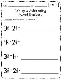 Common Core Math Worksheets - 5th Grade | Math notebooks, Math and ...