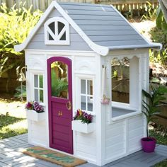 The most amazing Kmart cubby house hacks and makeovers youll find! Oh So busy mum has rounded up the best ones online and featured them here for you. Toddler Playhouse, Kids Indoor Playhouse, Backyard Playhouse, Build A Playhouse, Backyard Playground, Backyard For Kids, Girls Playhouse, Playhouse Ideas, Natural Playground