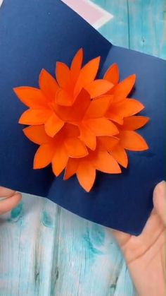 origami tutorial easy me for more handmade tutorial. Why not show your work in the comment area Cool Paper Crafts, Paper Flowers Craft, Paper Crafts Origami, Flower Crafts, Diy Flowers, Origami Flowers, Easy Origami Flower, Paper Sunflowers, Cardboard Crafts