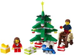 Build an evergreen LEGO� Christmas tree scene!