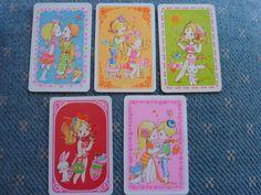 SET 5 KAKO KIDS BLANK BACK 1970 S Single Genuine Vintage Swap Playing Card January 2016 price was $6.00