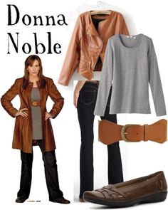 "Donna Noble from ""Journey's End""    Uniqlo long sleeve shirt, £9.90Short jacket, $37Blue jeans, $17LifeStride flat, $20Forever 21 wide belt, $8.80"
