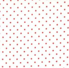8654-51 - Essential Dots (White Red) // Juberry Fabrics
