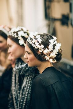 "dc-michelle: "" Backstage at Reem Acra Fall 2015. """