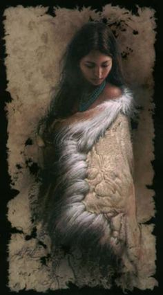 Young Maiden with Deer Skin - Lee Bogle ~lovely prints. Native American Wisdom, Native American Artists, Native American Women, Native American Indians, Native Indian, Native Art, Indian Art, American Indian Girl, Indian Eyes