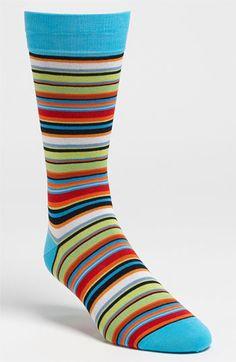 Bugatchi Uomo Stripe Socks (3 for $49.50) available at Nordstrom